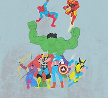 marvel superheroes by chicamarsh1