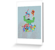 marvel superheroes Greeting Card
