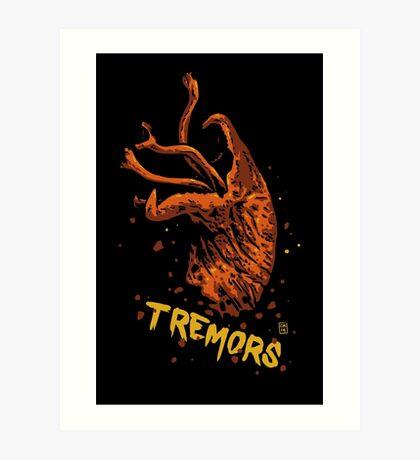 Tremors digital art print Art Print