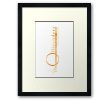 Ollivanders Logo in Yellow Framed Print