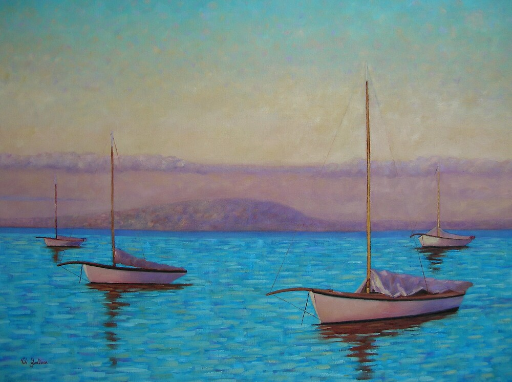 Couta boats off Sorrento Jetty by avocado