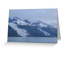 Glaciers Along the Water Greeting Card