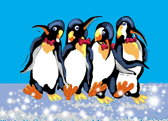 Dancing penguins by goanna