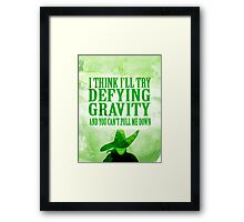 defying gravity Framed Print