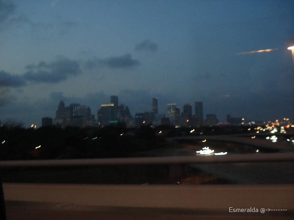 city  by Esmeralda @->-------