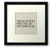 Perfection Merfection Framed Print