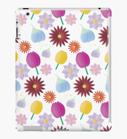 Four Seasons Flowers Pattern iPad Case/Skin