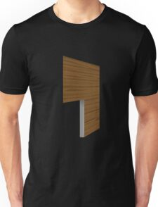 Glitch Homes Wallpaper brown boghouse left divide Unisex T-Shirt