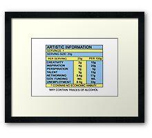 Artistic Information Chart Framed Print