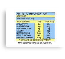 Artistic Information Chart Canvas Print