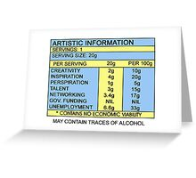 Artistic Information Chart Greeting Card