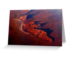 crossing central Australia - no frame Greeting Card