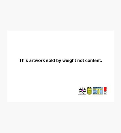 This Artwork sold by Weight not Content. Photographic Print