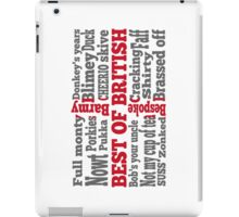 English slang on the St George's Cross flag iPad Case/Skin