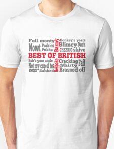 English slang on the St George's Cross flag T-Shirt