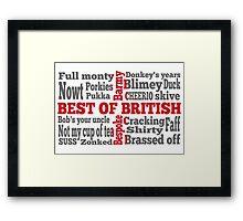 English slang on the St George's Cross flag Framed Print
