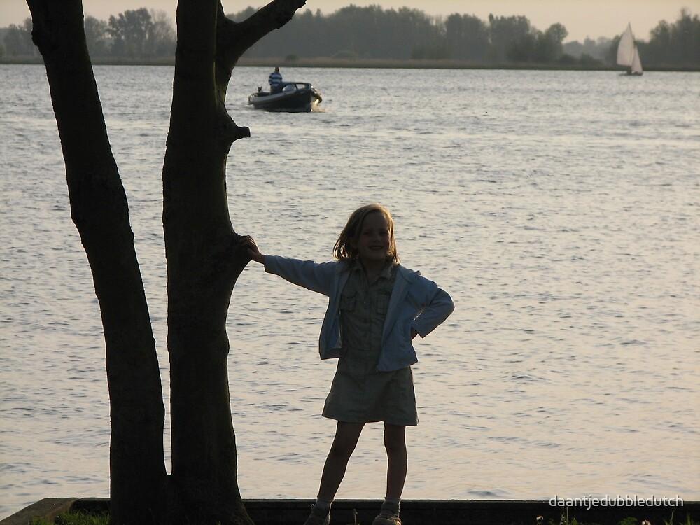 girl in sunset by daantjedubbledutch