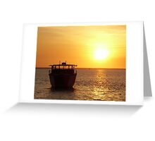Japanese Fishing Boat, Darwin Coast Greeting Card