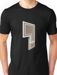 Glitch Homes Wallpaper brown molding left divide Unisex T-Shirt