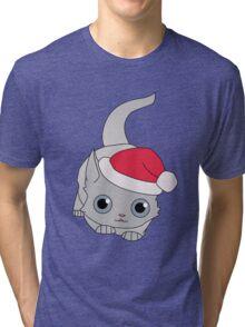 Christmas Cat Tri-blend T-Shirt