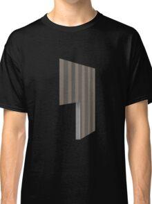 Glitch Homes Wallpaper brown stripes left divide Classic T-Shirt