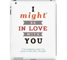 "Divergent: ""I might be in love with you."" iPad Case/Skin"