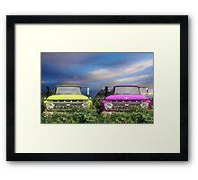 Colorful Trucks Framed Print