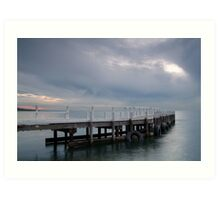 Pt Richards Jetty, Portarlington Art Print