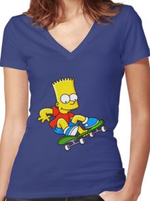 THE SIMPSON Women's Fitted V-Neck T-Shirt