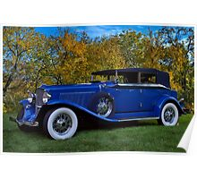 1932 Auburn Twelve Custom Phaeton Convertible Poster