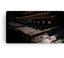 Bloody Keys Canvas Print