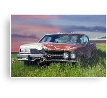 Time Warp Car Metal Print