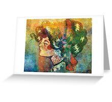 The Lady - Color Grunge Greeting Card