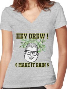 TV Game Show - TPIR (The Price Is...)Make It Rain Women's Fitted V-Neck T-Shirt