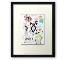 The Mortal Instruments collage Framed Print