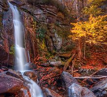 Late Autumn in the South Mountains of North Carolina by James Hoffman