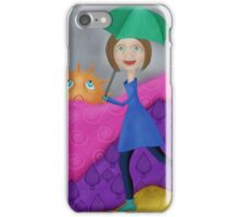 Walking in the Rain iPhone Case/Skin