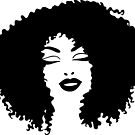 Smiling Woman | Afro Hair Silhouette by Cherie Balowski