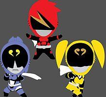 Chibi Akibarangers! by GoseiSilver