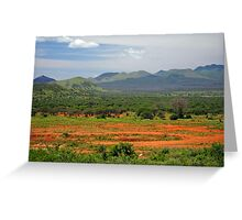 Kenyan Landscape Greeting Card