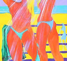 Beach Shower  by Virginia McGowan