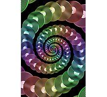 Vinyl LP Record Vortex - Metallic Rainbow Spiral Photographic Print