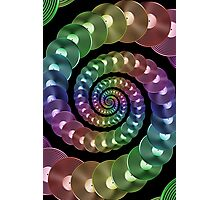 Vinyl LP Record Vortex - Metallic Rainbow Spiral Photographic Print