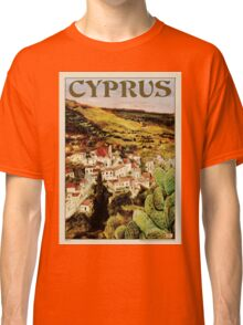 Travel Poster 01 - Lapithos, Cyprus Classic T-Shirt
