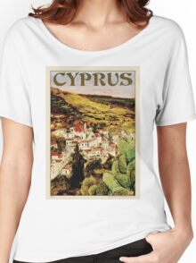 Travel Poster 01 - Lapithos, Cyprus Women's Relaxed Fit T-Shirt