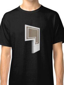 Glitch Homes Wallpaper brownbaseboard molding left divide Classic T-Shirt