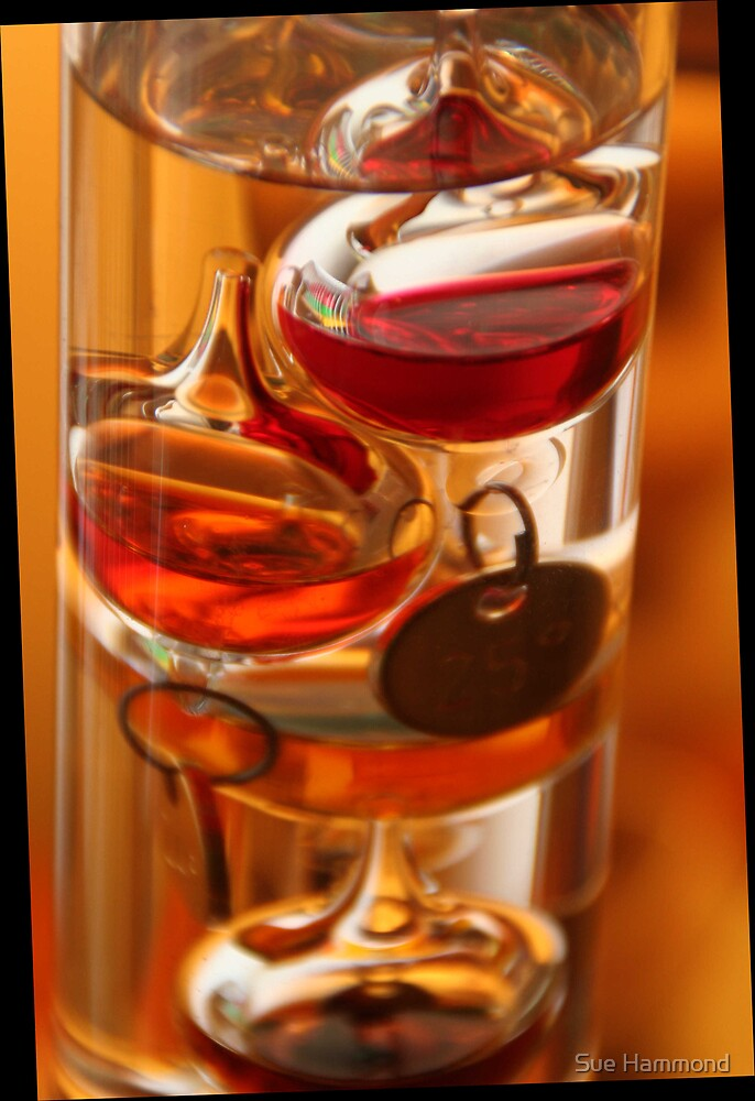 Glass, reds and golds by Sue Hammond