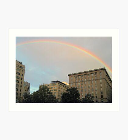 rainbow in montreal Art Print