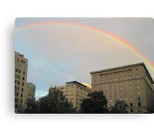 rainbow in montreal Canvas Print