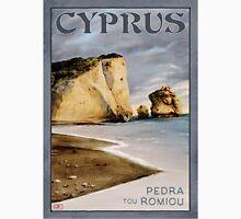 Travel Poster 04 - Pedra tou Romiou, Paphos, Cyprus Unisex T-Shirt